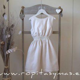 Vestido blanco roto engomado TEEN de EVE CHILDREN, verano 2020