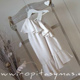Vestido blanco roto asimétrico TEEN de EVE CHILDREN, verano 2020