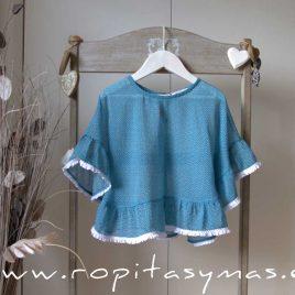 Camisola azul CIPRES de EVE CHILDREN, verano 2020