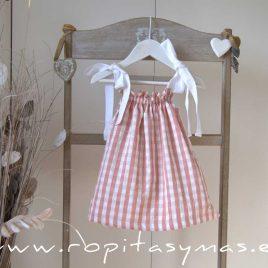 Vestido rosa vichy tirantes ROSE  de EVE CHILDREN, verano 2020