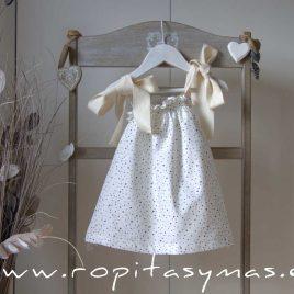 Vestido estrellas grises tirantes TITANIUM de EVE CHILDREN, verano 2020