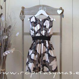 Vestido manchas kakis engomado TEEN de EVE CHILDREN, verano 2020