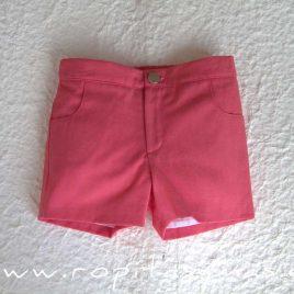 Pantalón corto rosa fuerte CORALE de EVE CHILDREN, verano 2020
