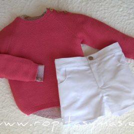Jersey rosa fuerte CORALE de EVE CHILDREN, verano 2020