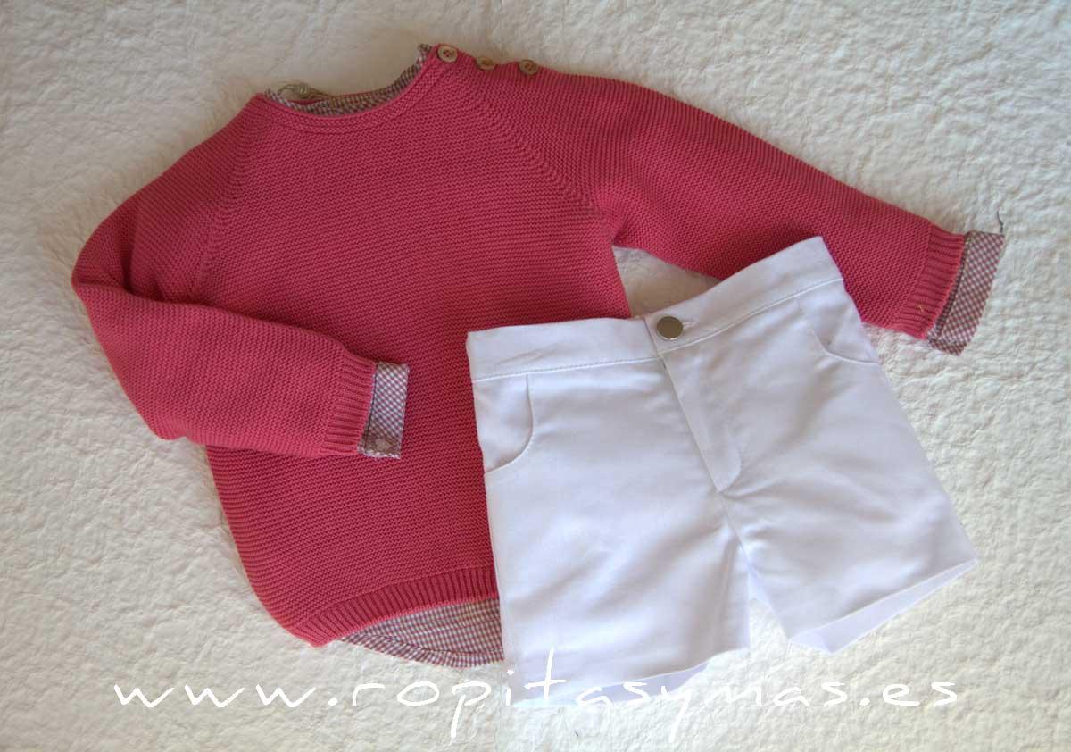 Jersey rosa fuerte CORALE de EVE CHILDREN