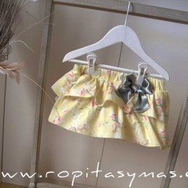 Falda-bombacho volantes CITRON de MAMI MARIA, verano 2020