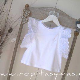 Camiseta blanca SUMMER de MAMI MARÍA, verano 2020