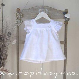 Blusa blanca PROVENZA de MAMI MARÍA, verano 2020