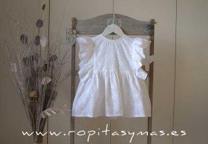 Blusa bordada blanca de MIA Y LIA