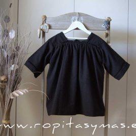 Vestido negro bordado MIA Y LIA,  verano 2020