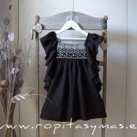Vestido negro étnico MIA Y LIA,  verano 2020