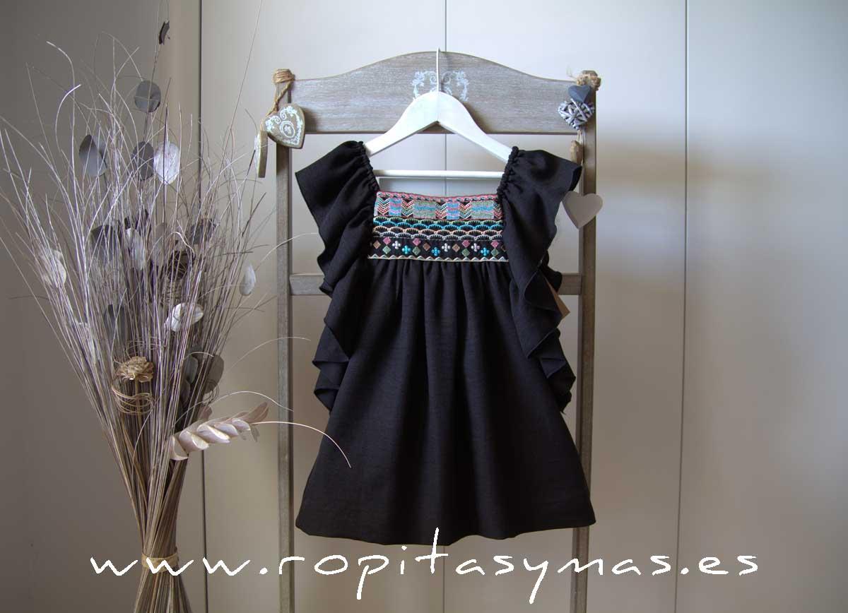 Vestido negro étnico MIA Y LIA