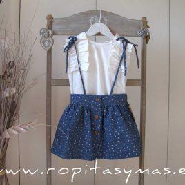 Falda de tirantes denim estrellas MIA Y LIA, verano 2020