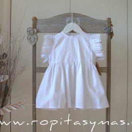 Blusa blanca lurex volantes de MIA Y LIA, verano 2020
