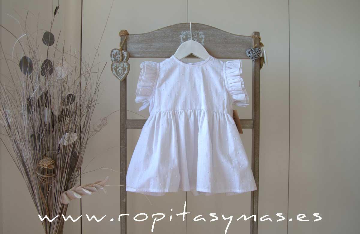 Blusa blanca lurex volantes de MIA Y LIA