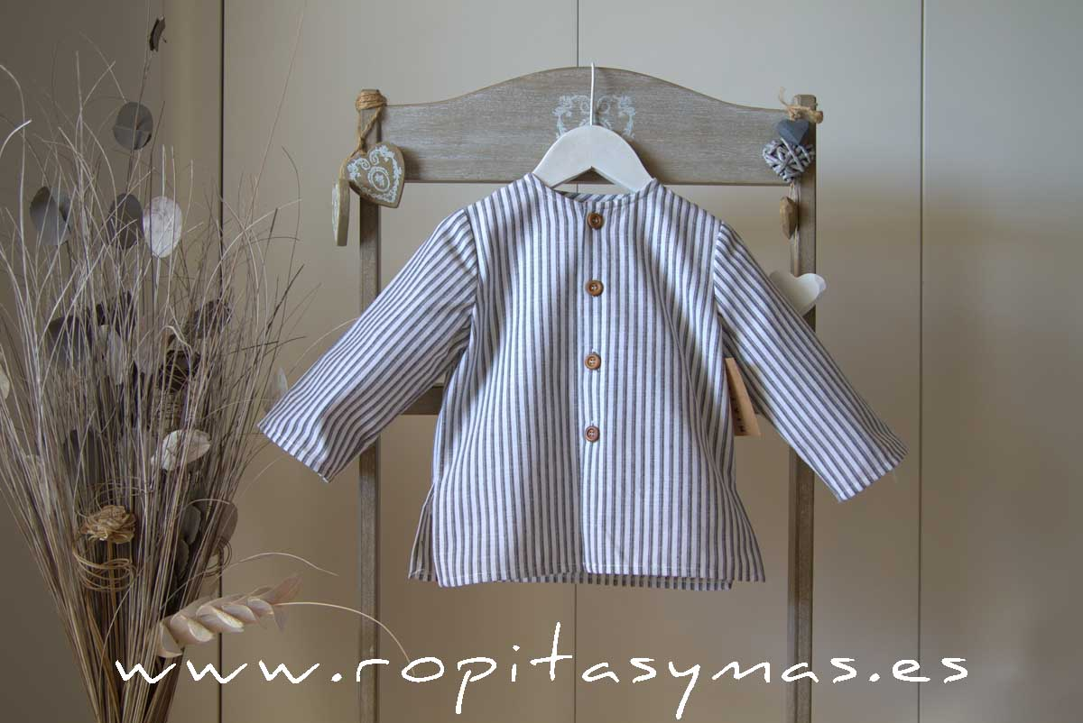 Camisa rayas grises de MIA Y LIA