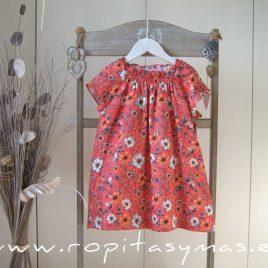 Vestido floral CORAL MIA Y LIA,  verano 2020