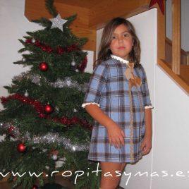 Vestido cuadros azul Baja Costura, Invierno 2014