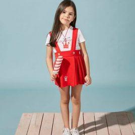Conjunto falda punto roja AMBER de  EVA CASTRO, verano 2020