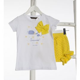 Camiseta blanca BALLENAS de KIDS CHOCOLATE, verano 2020