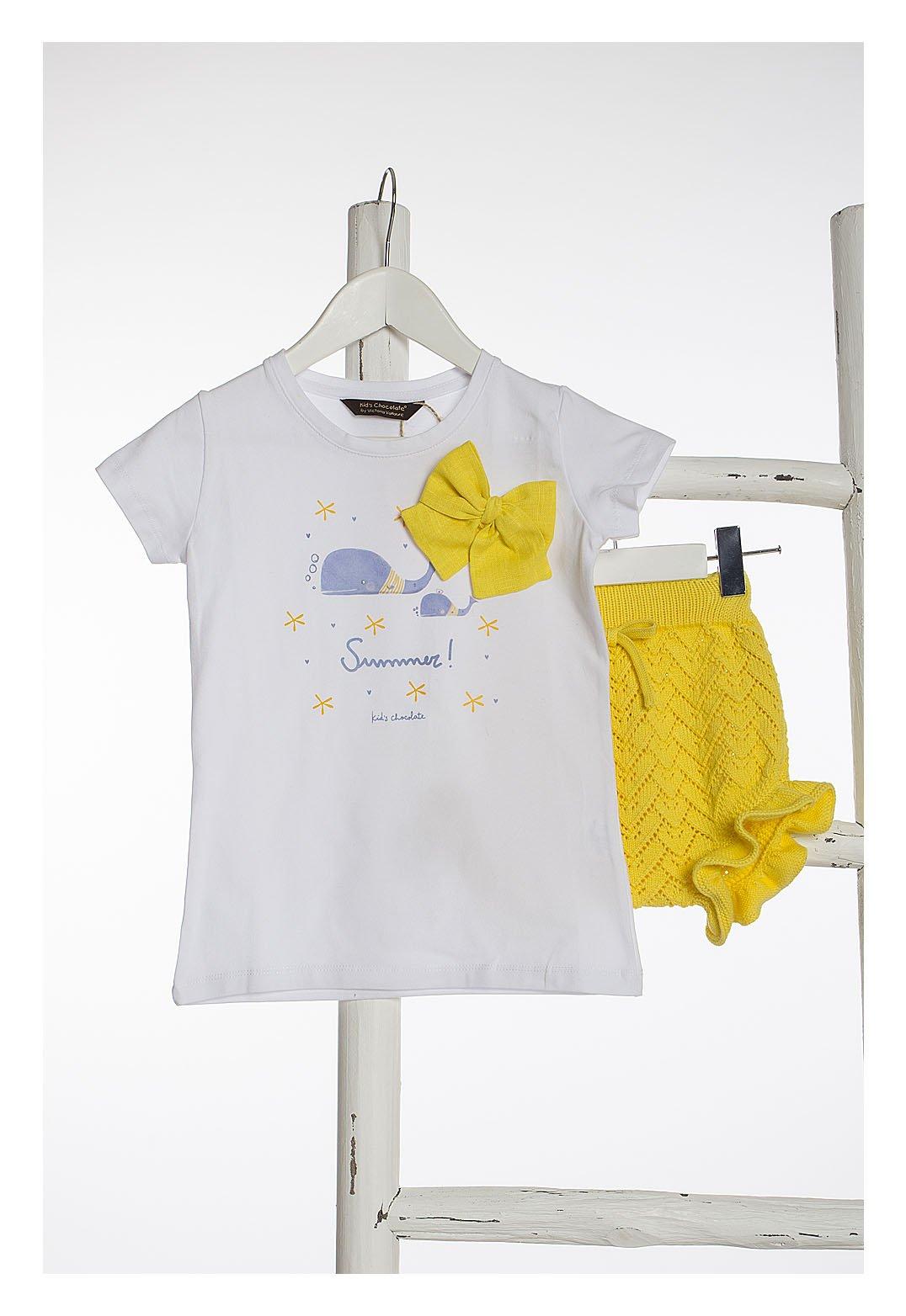 Camiseta blanca BALLENAS de KIDS CHOCOLATE