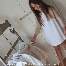 Vestido perforado blanco ARENA de ANCAR, verano 2020