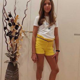Conjunto short niña SELENE de EVA CASTRO, verano 2020