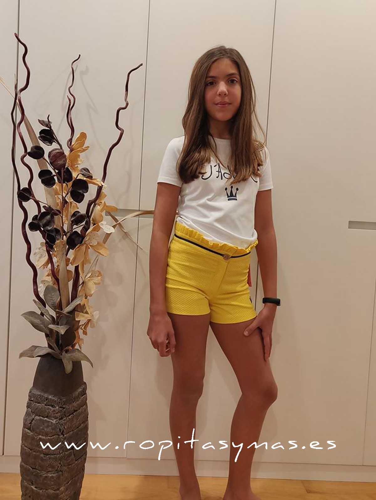 Conjunto short niña SELENE de EVA CASTRO