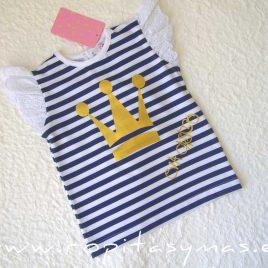 Camiseta marinera EVA CASTRO niña, verano 2020