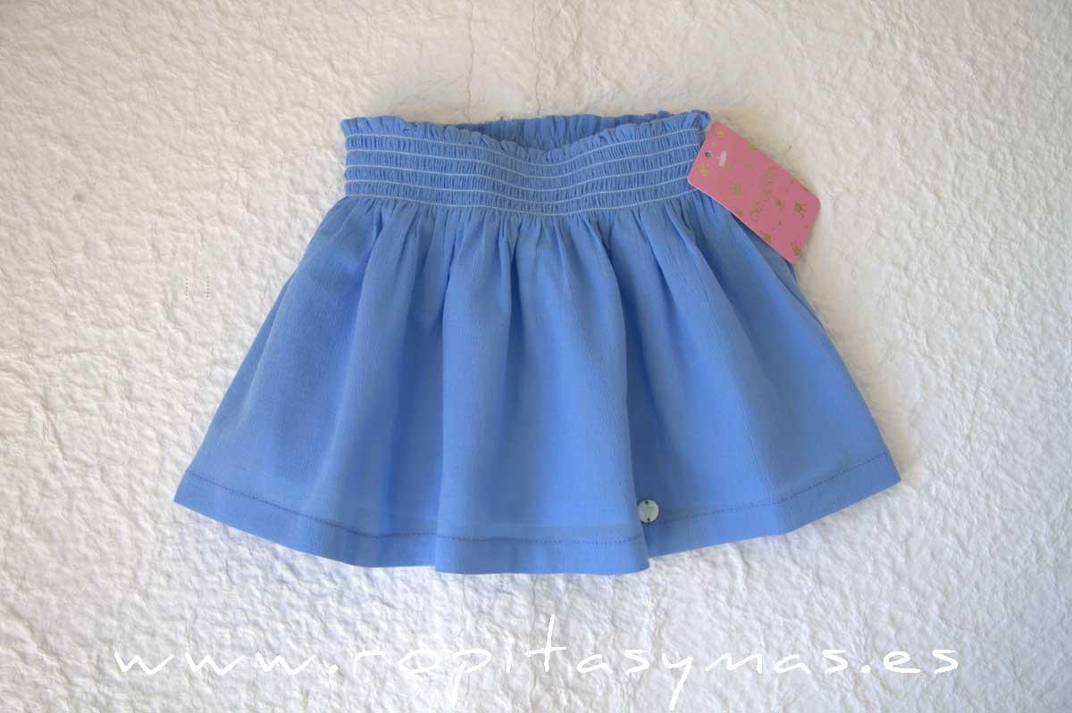 Falda azul de EVA CASTRO