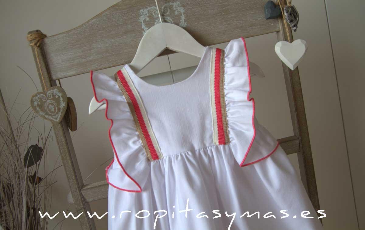 Vestido blanco bandas CORALE de EVE CHILDREN