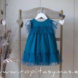 Vestido azul grisáceo tul DOLPHIN de EVE CHILDREN, verano 2020