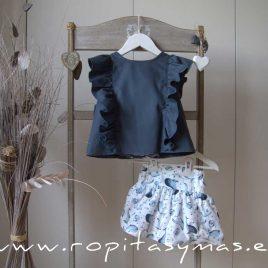Conjunto falda delfines DOLPHIN de EVE CHILDREN, verano 2020