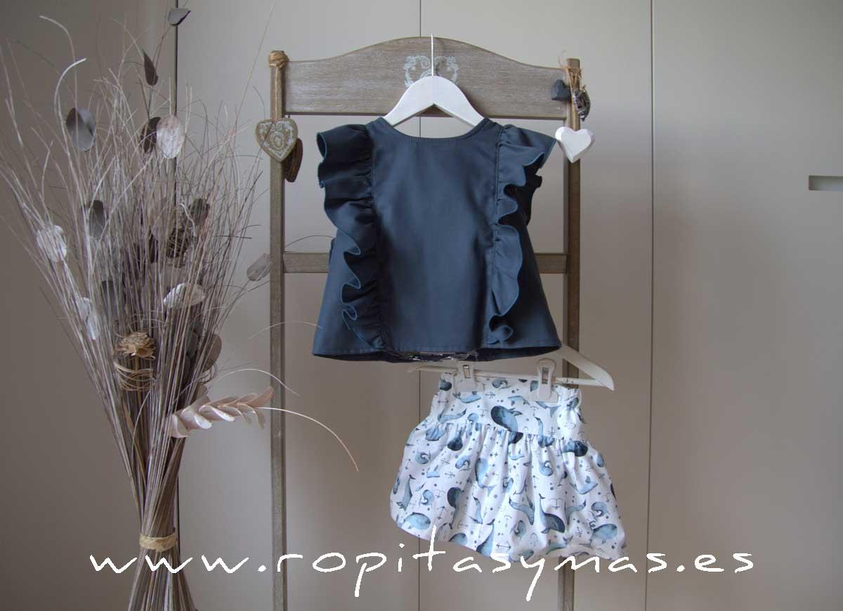 Conjunto falda delfines DOLPHIN de EVE CHILDREN
