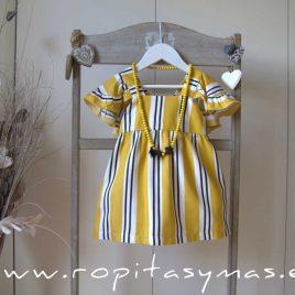 Vestido amarillo listas BEE de EVE CHILDREN, verano 2020