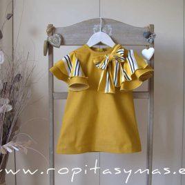 Vestido amarillo volantes BEE de EVE CHILDREN, verano 2020