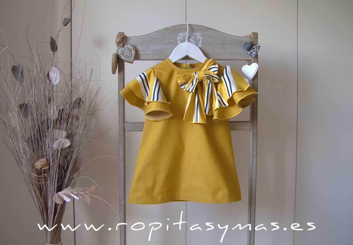 Vestido amarillo volantes BEE de EVE CHILDREN