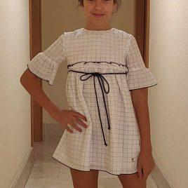 Vestido cuadros JEANS de EVE CHILDREN, verano 2020