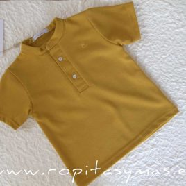 Polo mao amarillo mostaza PALM TREE de EVE CHILDREN, Verano 2021