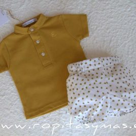 Conjunto bebé amarillo BEE de EVE CHILDREN, verano 2020