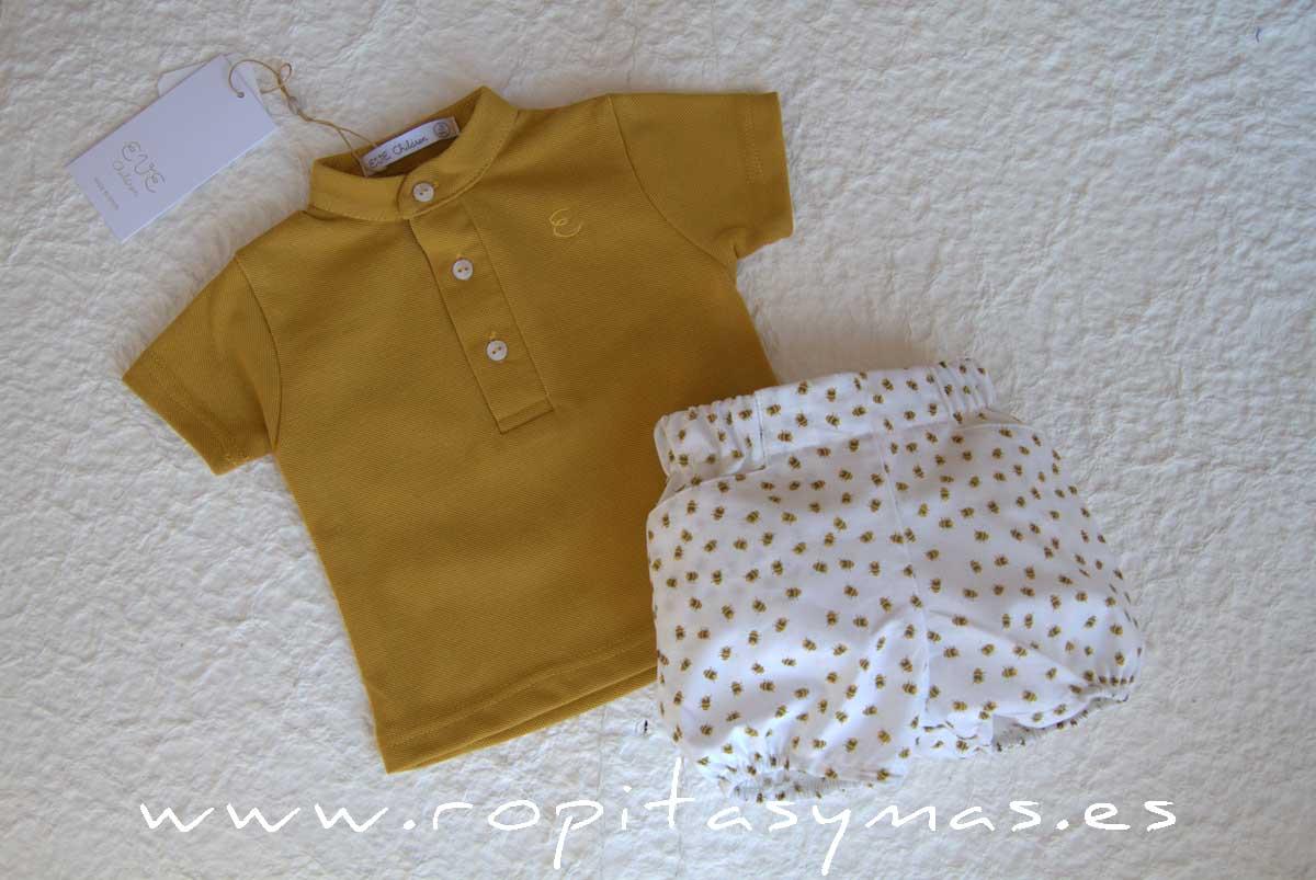 Conjunto bebé amarillo BEE de EVE CHILDREN