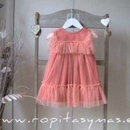Vestido coral tul CRAB de EVE CHILDREN, verano 2020