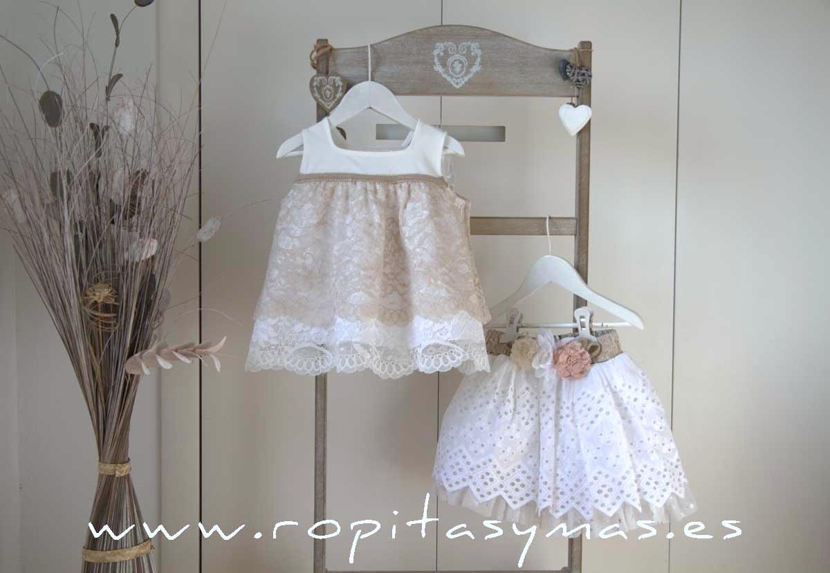 Falda blanca perforada SAHARA de KAULI