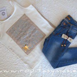Camiseta marfil stars SAHARA de KAULI, verano 2020