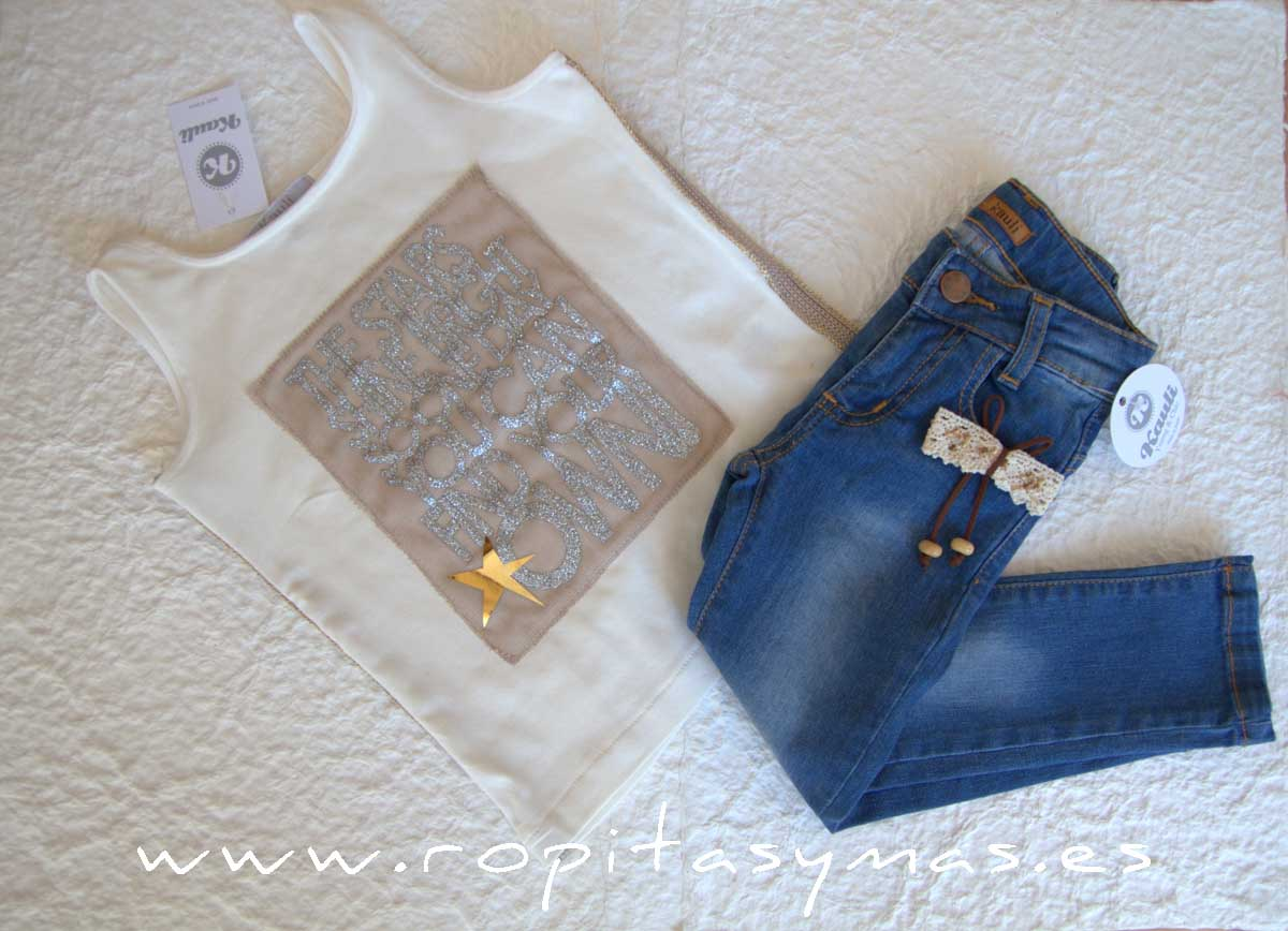 Camiseta marfil stars SAHARA de KAULI