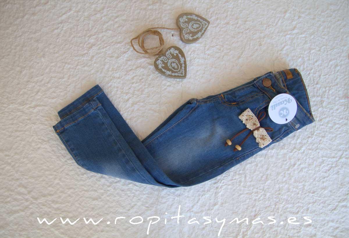 Pantalón vaquero denim YOUNG & CHIC azul de KAULI