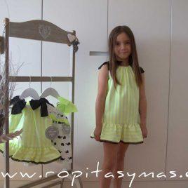 Vestido rayas FLUOR MON PETIT BONBON, verano 2020