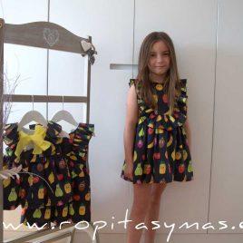 Vestido negro FRUITIS MON PETIT BONBON, verano 2020