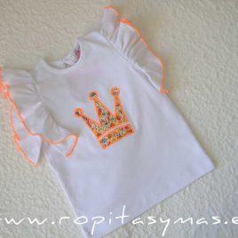Camiseta corona PHILIPPA EVA CASTRO niña, verano 2020