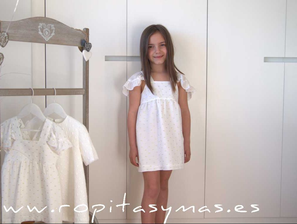 Vestido plumeti dorado DRAGON-FLY de EVE CHILDREN